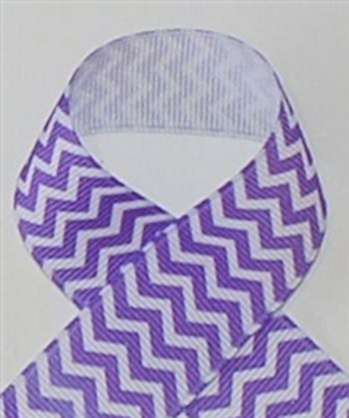 Chevron Ribbon | Purple Chevron Ribbon | Printed Ribbon For Hair Bows