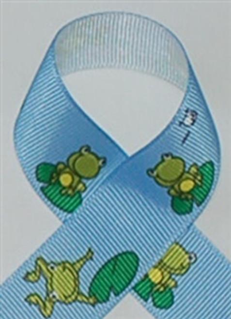 Frog Printed Ribbon