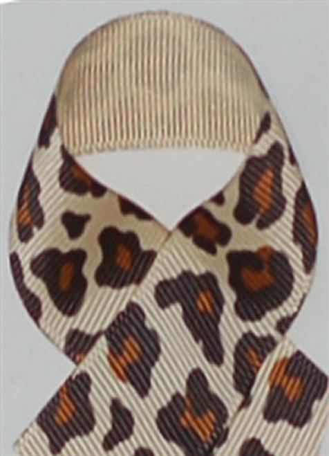 Natural Leopard Grosgrain Ribbon