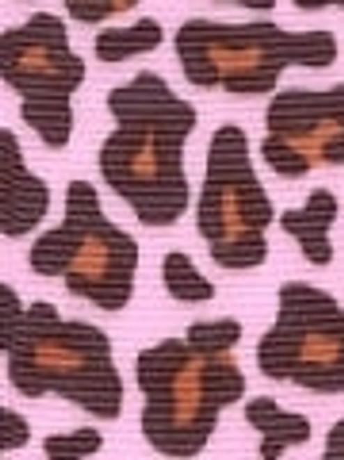 Light Pink Leopard Grosgrain Ribbon