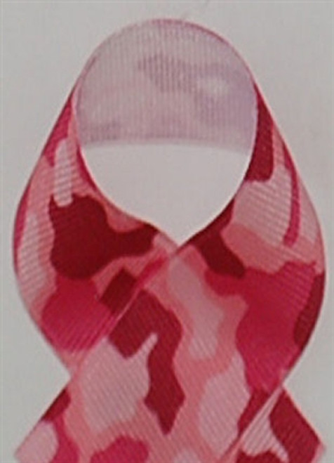 Pink Camouflage Printed Ribbon
