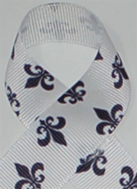 Fleur de Lis Grosgrain Ribbon
