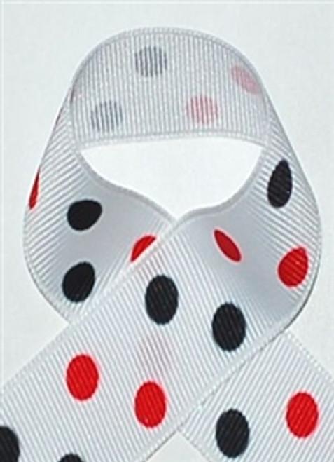 Red and Black Polka Dot Ribbon