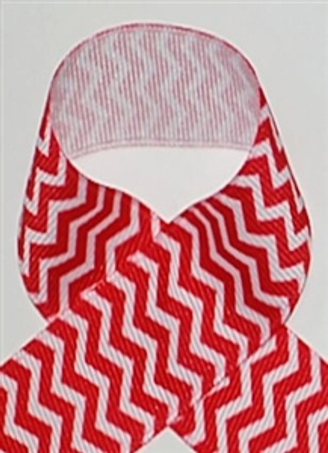 Chevron Ribbon | Red Chevron Ribbon | Printed Ribbon For Hair Bows