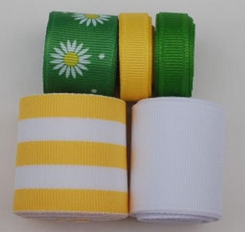 Green Daisy Ribbon Mix
