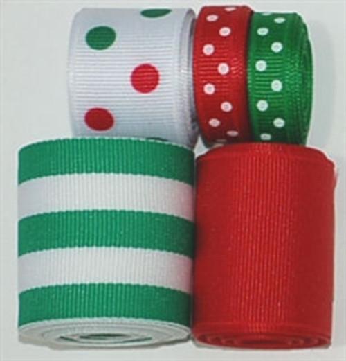 Christmas Dots Ribbon Mix