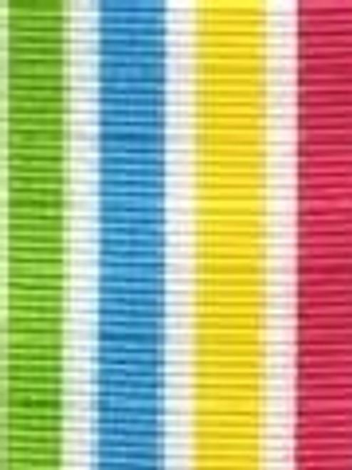 Caribbean Preppy Stripe Ribbon