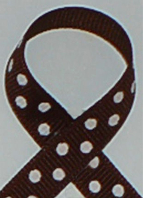 Brown wtih White Swiss Dots