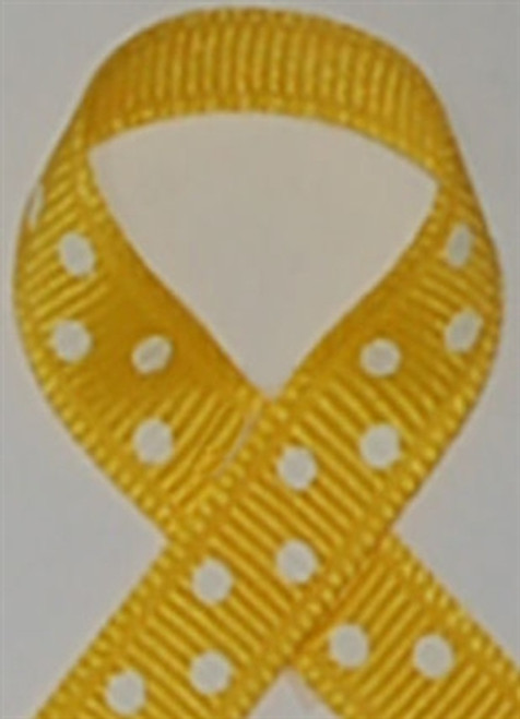 Yellow with White Swiss Dots