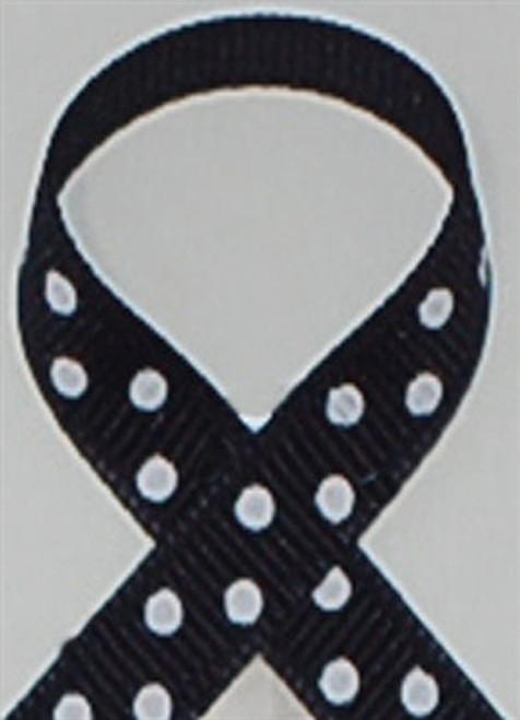 Navy w/  White Swiss Dots