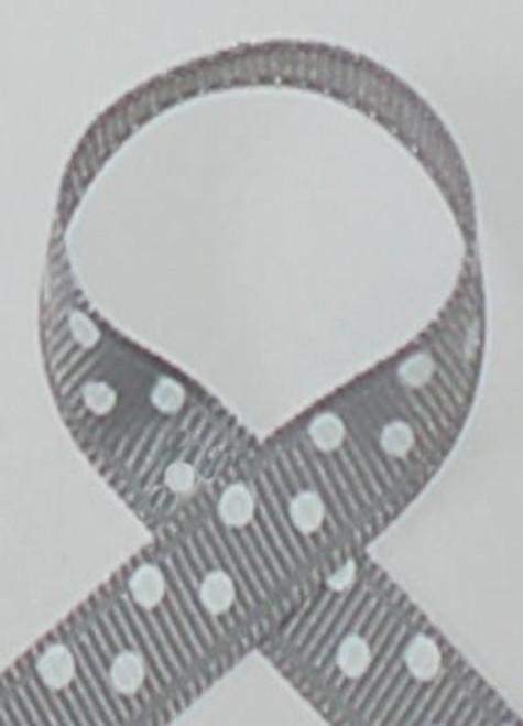 Millenium Silver Polka Dot Hair Ribbon
