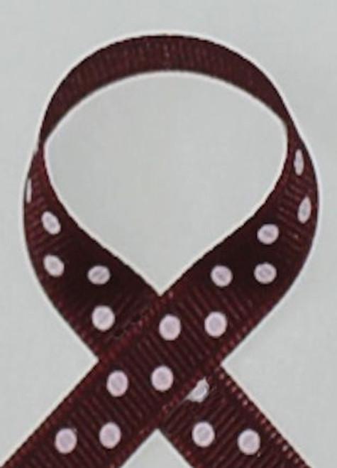 Texas A&M Maroon Polka Dot Craft Ribbon