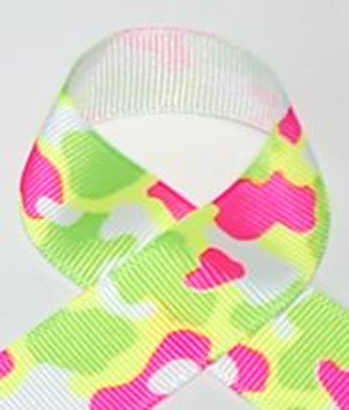 Neon Camouflage Printed Ribon