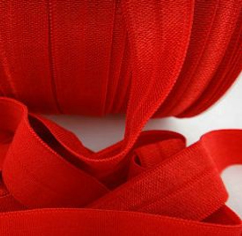 Red Fold Over Elastic Ribbon