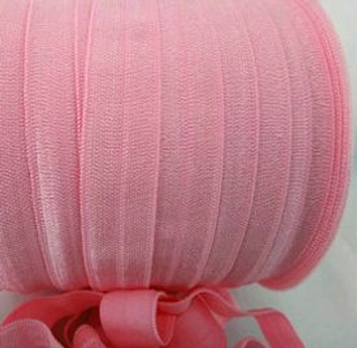 Pink Fold Over Elastic Ribbon