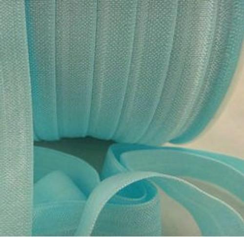 Lt Blue Fold Over Elastic Ribbon