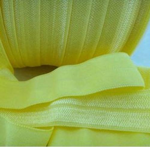 Yellow Fold Over Elastic Ribbon