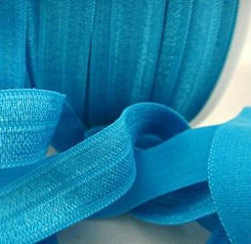 Turquoise Fold Over Elastic Ribbon