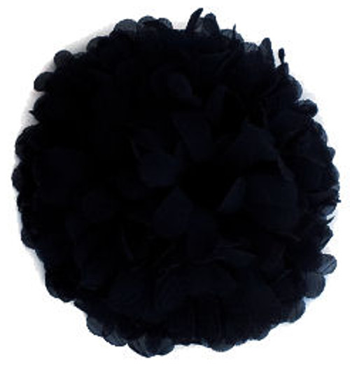Black Chiffon Fabric Flowers