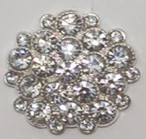 Crystal Rhinestone Cluster Button