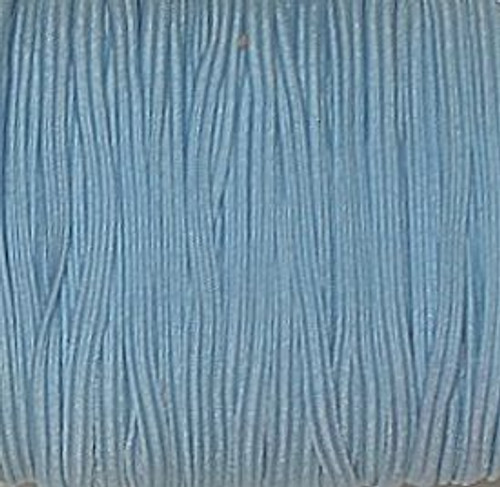 Light Blue 1/8 Skinny Elastic
