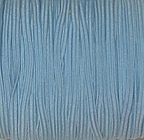 Light Blue 1/8 Skinny Elastic