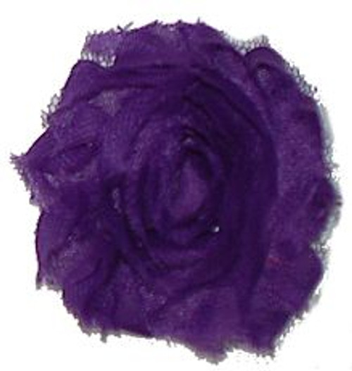 Purple shabby chiffon flowers for headbands and crafts