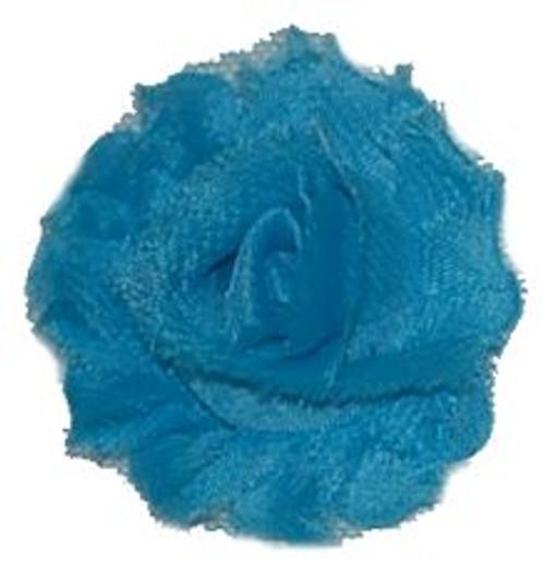 Light Blue Shabby Chiffon Flowers