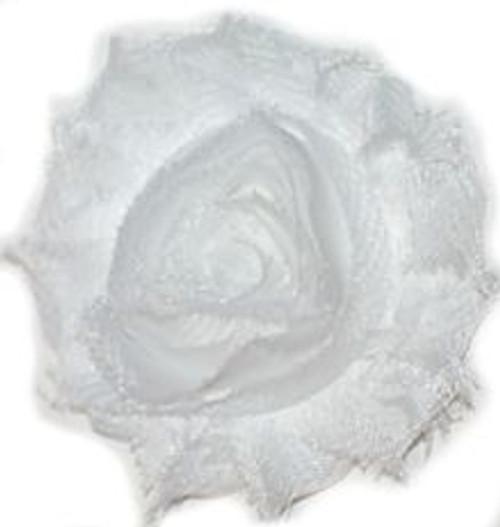 White Shabby Chiffon Flowers