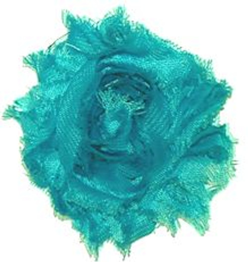 Turquoise Shabby Chiffon Flowers
