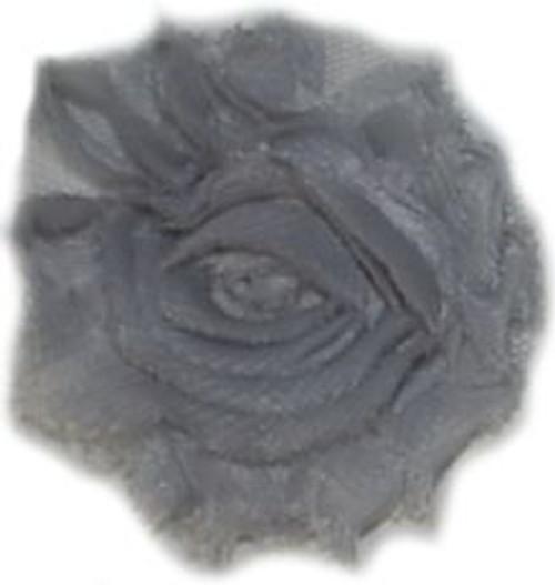 Grey Shabby Chiffon Flowers