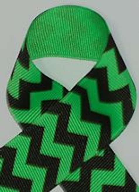 Neon Green Chevron Ribbon for Springtime crafts and Hair Bows.