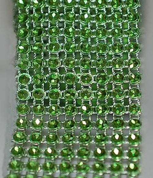 Green Rhinestone Ribbon for craft supplies and accessories