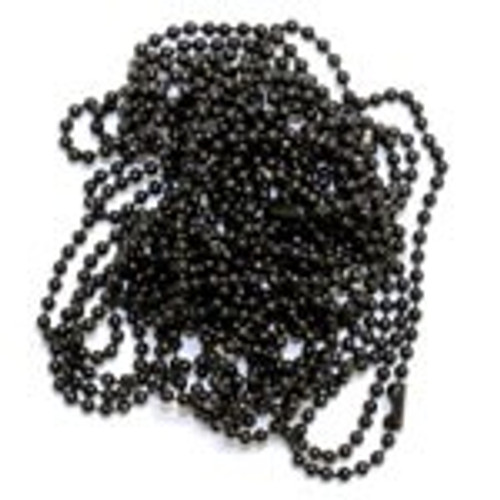 Black ball chain necklaces for jewelry and craft making. Add out ball chain necklaces to your craft supplies.