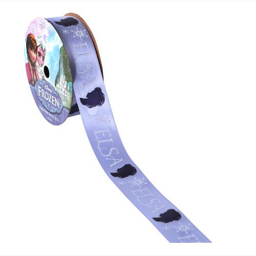 Frozen Elsa Silhouette Printed Ribbon