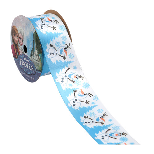 Frozen Olaf Snowy Printed Ribbon