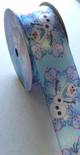 Frozen Olaf Snowflake Printed Ribbon