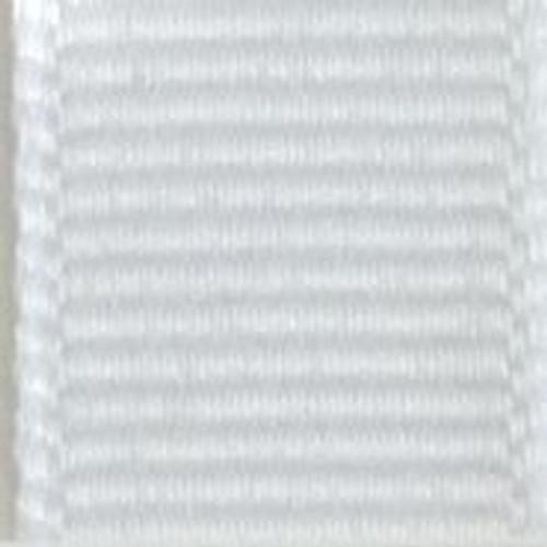 White Offray Grosgrain Ribbon