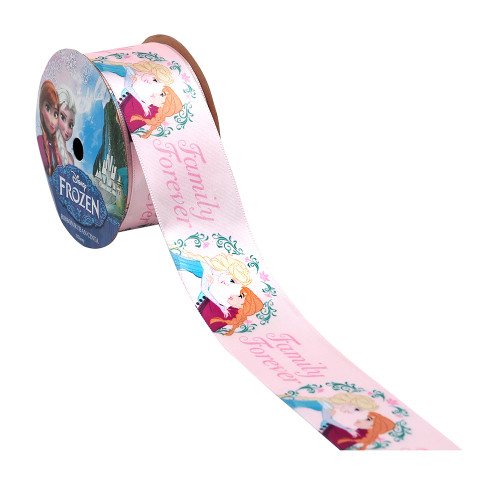 Frozen Pink Family Printed Ribbon