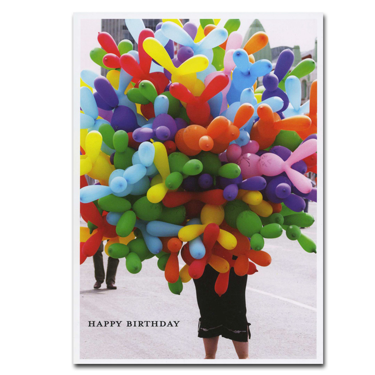 Boxed Business Balloons For Sale Birthday Card Cover Is Photo Of Balloon Vendor With The Text