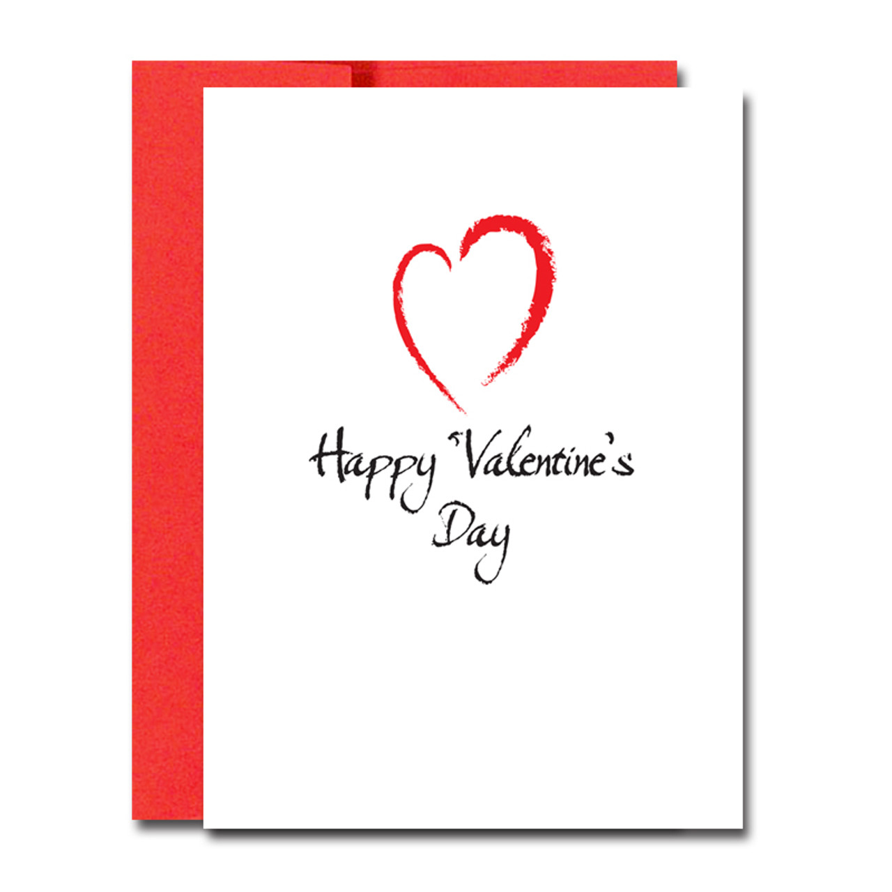 Boxed Valentine S Day Note Cards For Business Modern Heart