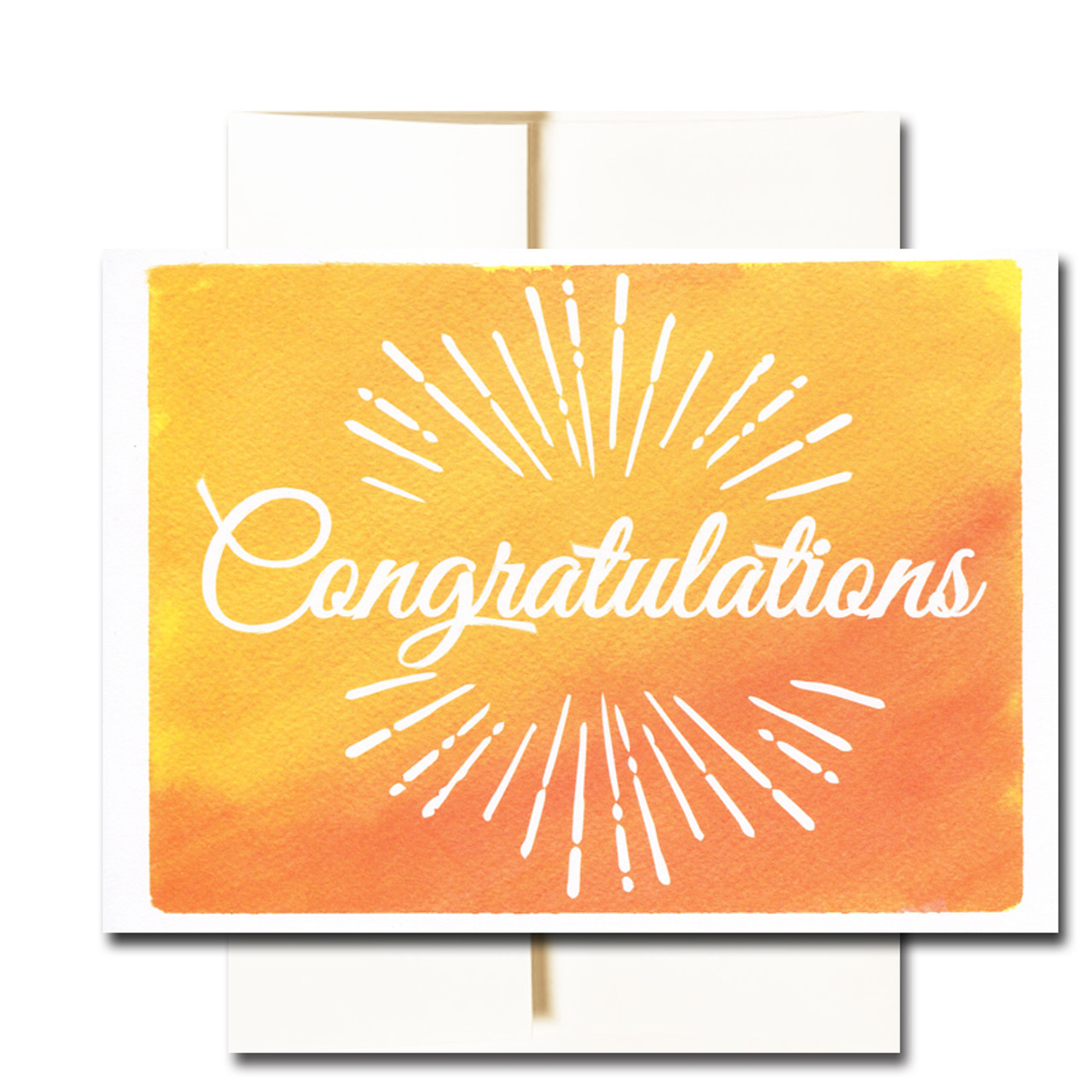 boxed business congratulations note card sunburst