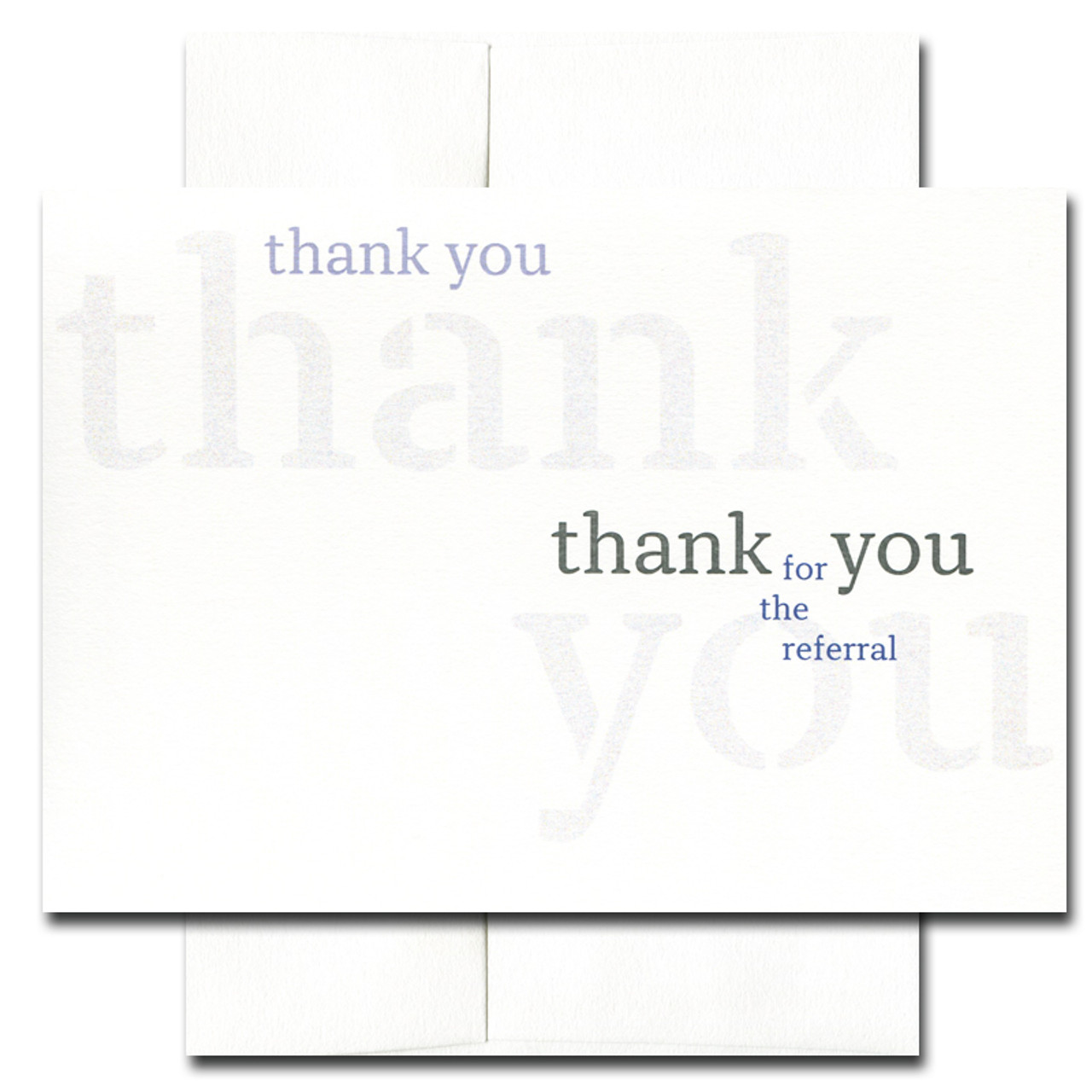 Referral Appreciation Triple Thank You Box Of 10 Cards Envelopes