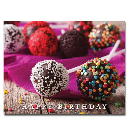 POSTCARDS: Birthday: Cake Pops - box of 50 postcards