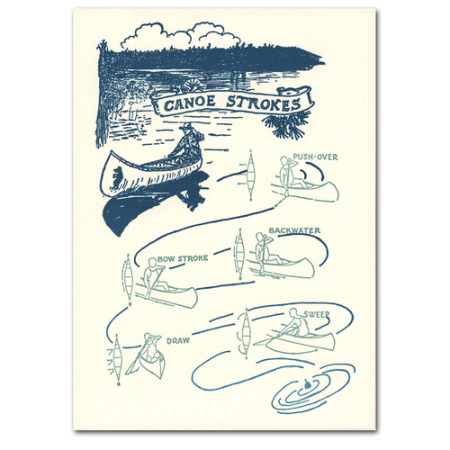 Canoe Strokes - box of 10 letterpress cards & envelopes