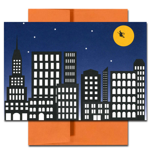 Halloween: City Witch - box of 10 cards & envelopes