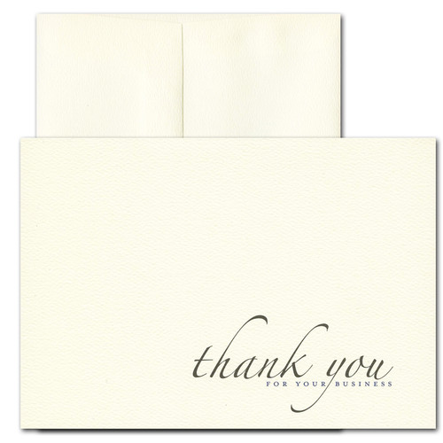 Business Appreciation: Formal - box of 10 cards & envelopes