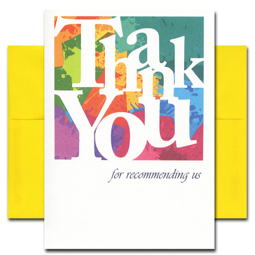 Referral Thank You: Color Blocks - box of 10 cards & envelopes
