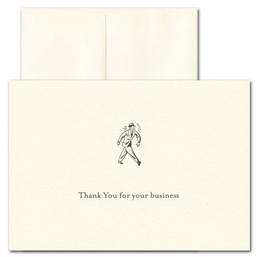 Business Appreciation: Retro - box of 10 cards & envelopes