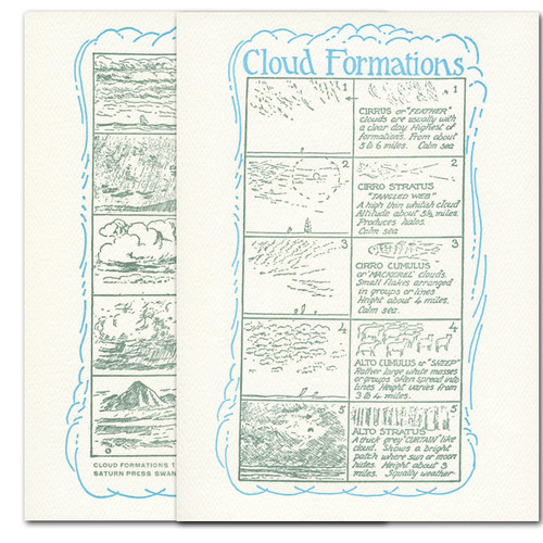 Cloud Formations - box of 10 letterpress cards & envelopes